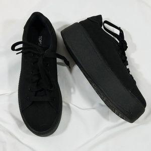 Topshop Black canvas Candy platform sneakers sz 38